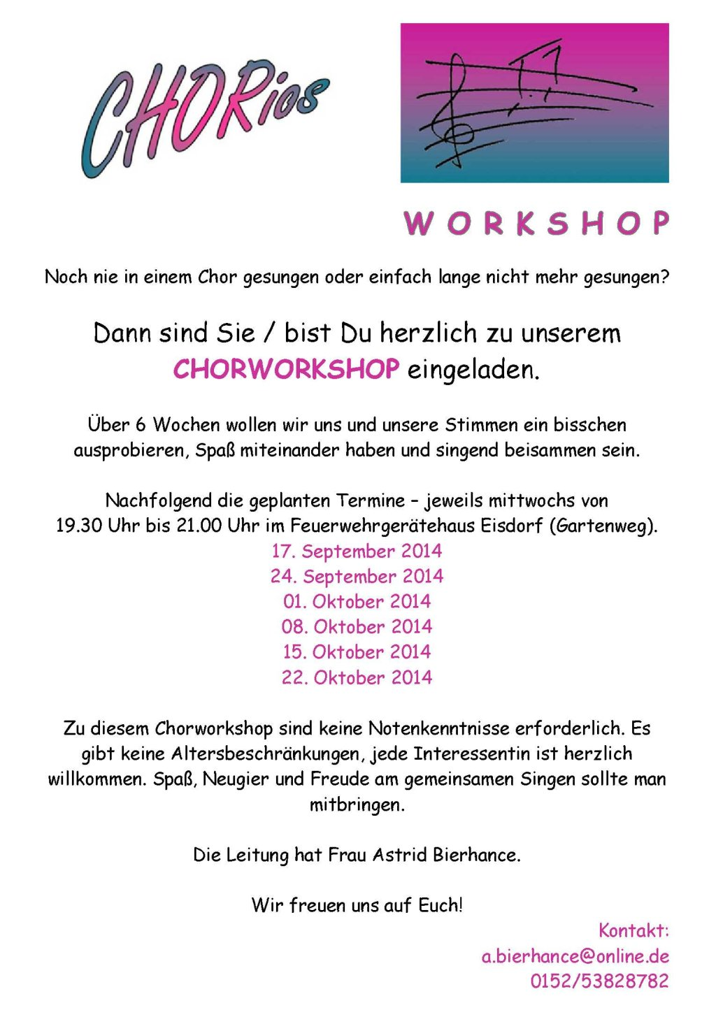Chorios Chorworkshop