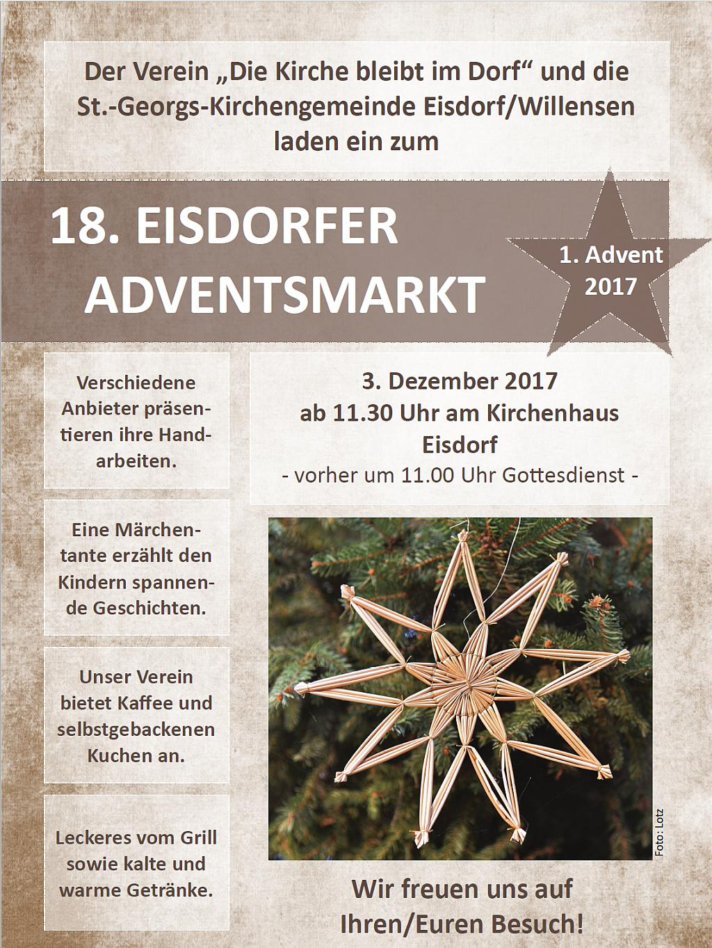 Eisdorfer Adventsmarkt 2017