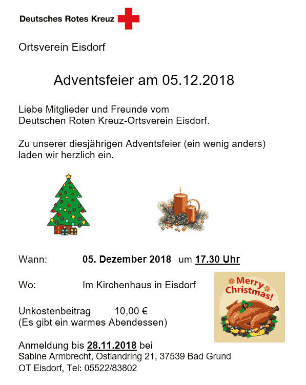 DRK Adventsfeier